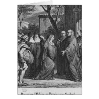 Abelard welcoming Heloise at Paraclete Card
