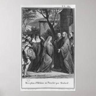 Abelard welcoming Heloise at Paraclete Poster