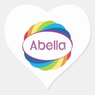 Abella Heart Sticker