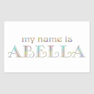Abella Rectangular Sticker