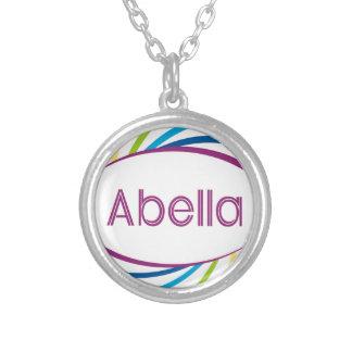 Abella Round Pendant Necklace