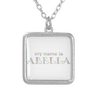Abella Square Pendant Necklace
