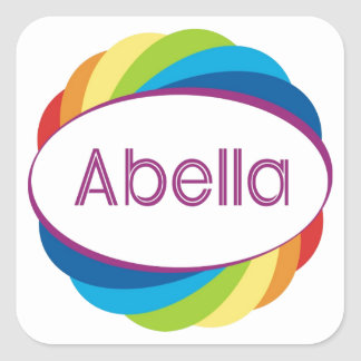 Abella Square Sticker