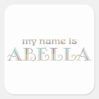 Abella Square Sticker