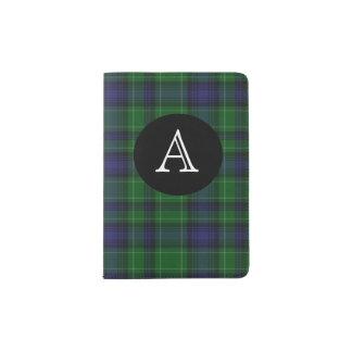 Abercrombie Clan Plaid Monogram Passport Holder