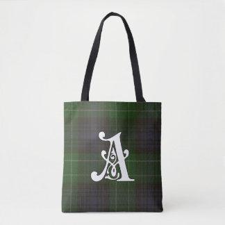 Abercrombie Clan Tartan Monogram Tote Bag