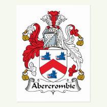 Abercrombie Family Crest Postcard