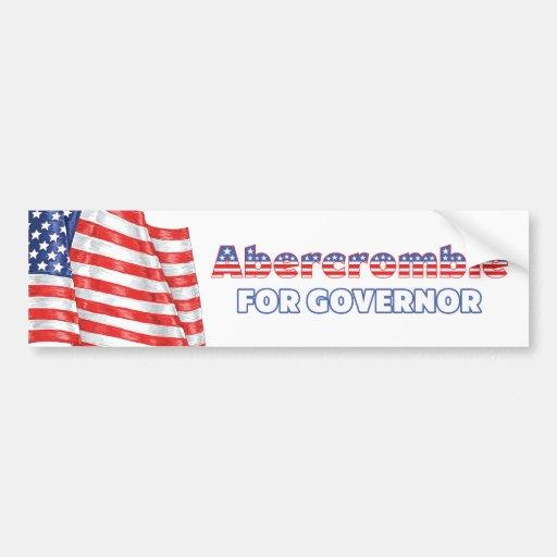 Abercrombie for Governor Patriotic American Flag Bumper Sticker