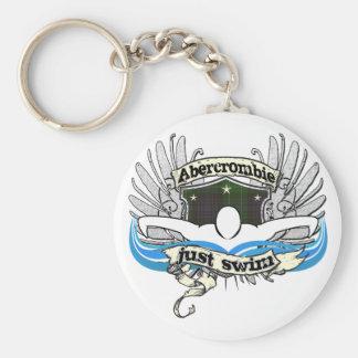 Abercrombie Just Swim Basic Round Button Keychain