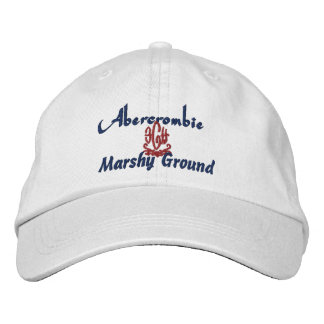 Abercrombie Name With Celtic/Gaelic Meaning White Embroidered Baseball Cap