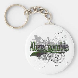 Abercrombie Tartan Grunge Basic Round Button Keychain