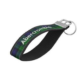Abercrombie Tartan Plaid Wrist Key Chain Wrist Keychain