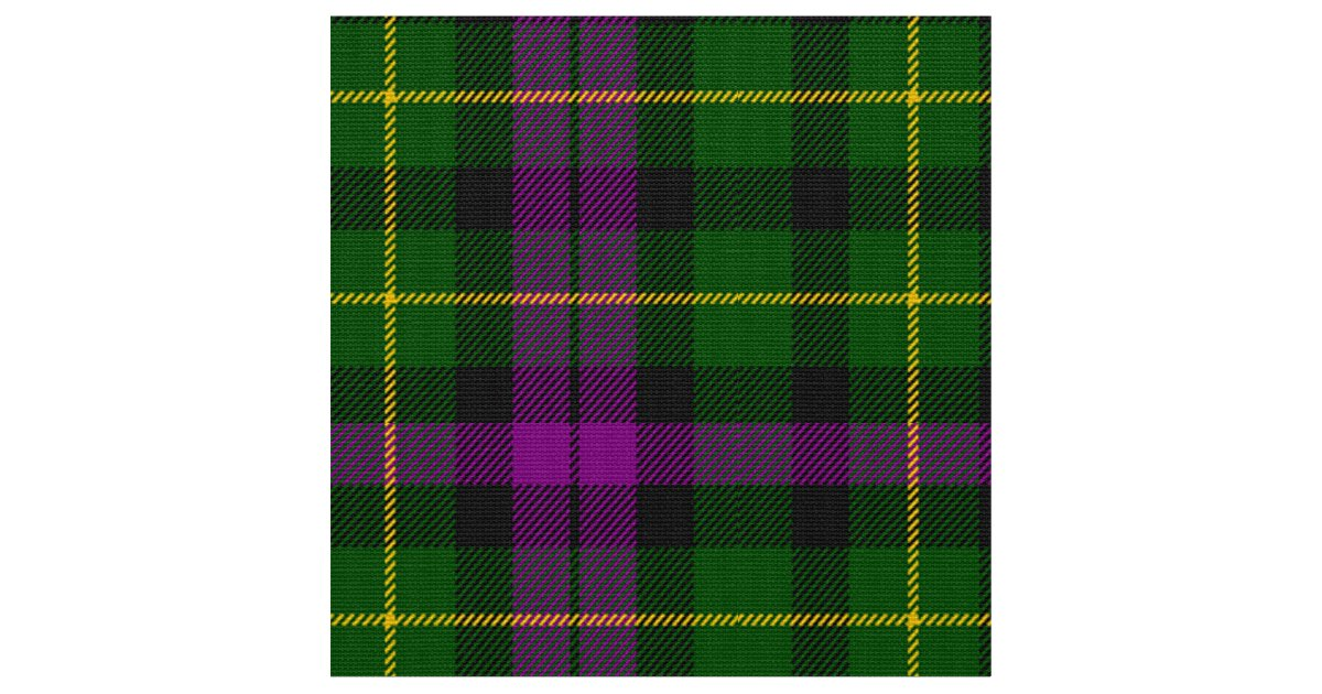 Abercrombie Tartan Purple And Green Plaid Fabric Zazzle Com