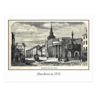 Aberdeen de grabado antigua de la cruz postal