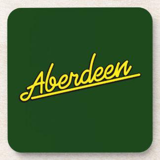 Aberdeen en amarillo posavasos de bebidas