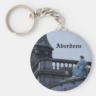 Aberdeen, Escocia Llavero Redondo Tipo Pin