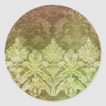 ABERDEEN HEIRLOOM, LACE & DAMASK: GOLD RUSH ROUND STICKERS