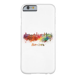 Aberdeen skyline in watercolor barely there iPhone 6 case