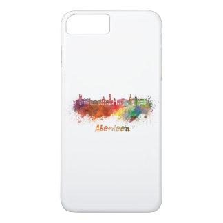 Aberdeen skyline in watercolor iPhone 8 plus/7 plus case