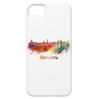 Aberdeen skyline in watercolor iPhone SE/5/5s case