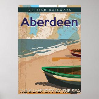 Aberdeen vintage travel poster
