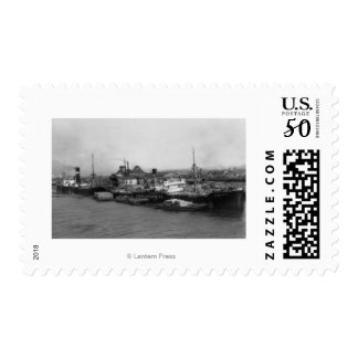 Aberdeen, WA - View of Waterfront and Shipping Postage