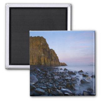 Aberdour Cliffs 2 Inch Square Magnet