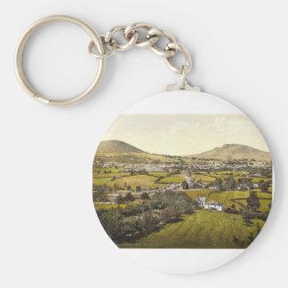 Abergravenny and Holy Mountain, Abergravenny i.e., Basic Round Button Keychain