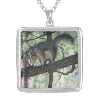 Abert's Squirrel Square Pendant Necklace
