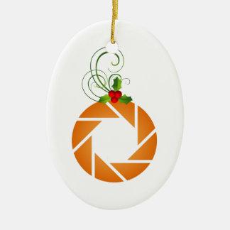 Abertura anaranjada con la puntilla del mirto adorno ovalado de cerámica