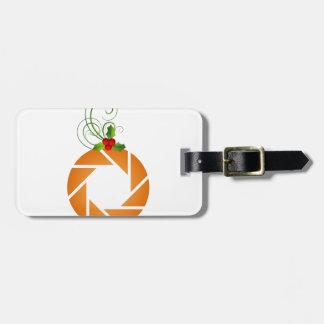 Abertura anaranjada con la puntilla del mirto etiquetas de equipaje