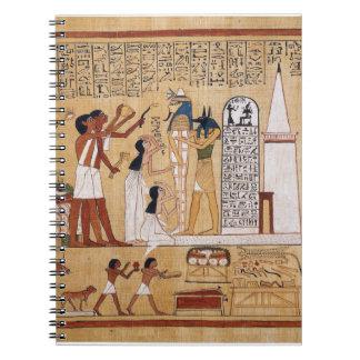 Abertura del libro de la ceremonia de la boca de notebook