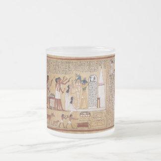 Abertura del libro de la ceremonia de la boca de taza de café esmerilada