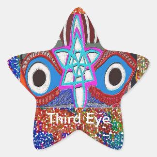 Abertura del plexo solar - meditación del tercer pegatina en forma de estrella