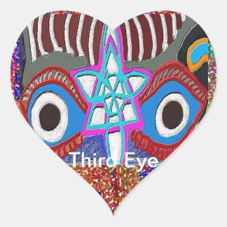 Abertura del plexo solar - meditación del tercer pegatina en forma de corazón