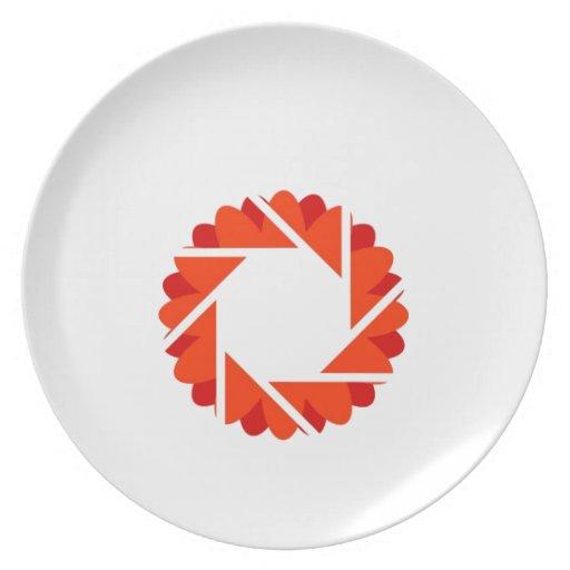 Abertura floral plato de comida