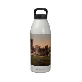 Aberystwyth Castle, Ceredigion, Wales Water Bottles