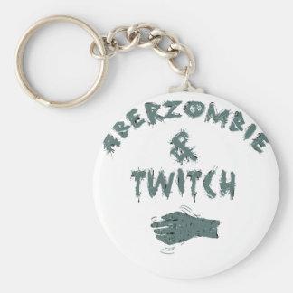 Aberzombie and Twitch Basic Round Button Keychain