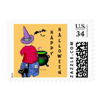 Abe's Halloween Postage Stamp
