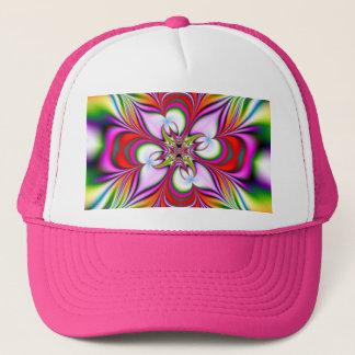 abestrato florescente trucker hat