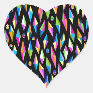 abestrato formas geometricas heart sticker