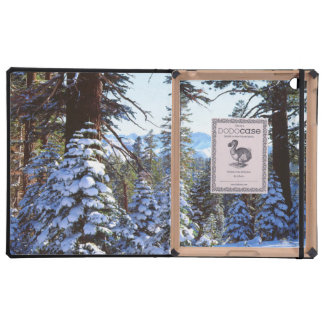 Abetos rojos nevados en High Sierra 2 iPad Protectores