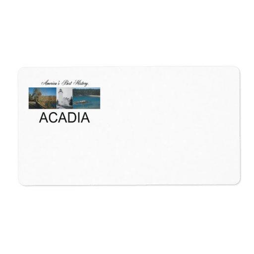 ABH Acadia Custom Shipping Labels