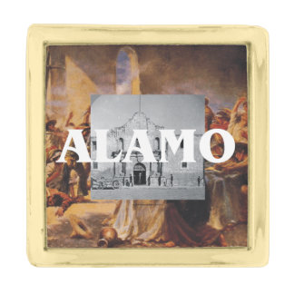 ABH Alamo Gold Finish Lapel Pin