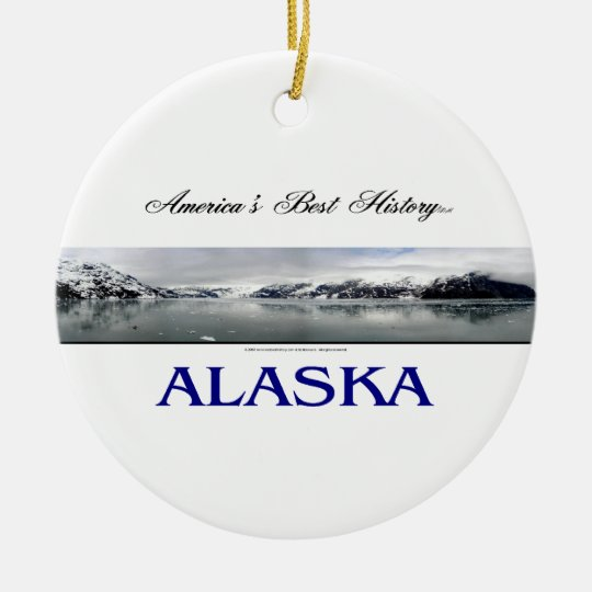 ABH Alaska Ceramic Ornament