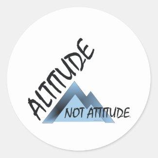 ABH Altitude Not Attitude Classic Round Sticker