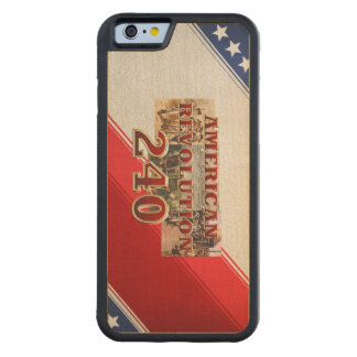 ABH American Revolution 240th Anniversary Carved® Maple iPhone 6 Bumper Case