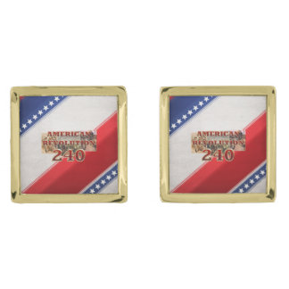 ABH American Revolution 240th Anniversary Gold Cufflinks