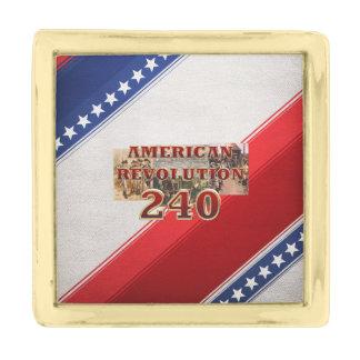 ABH American Revolution 240th Anniversary Gold Finish Lapel Pin