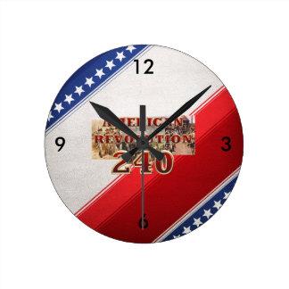 ABH American Revolution 240th Anniversary Round Clock